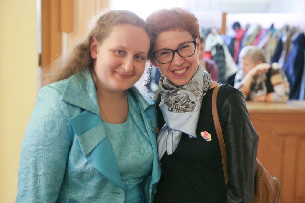 Василина Степанова и Мариана Лысенко сотрудники фонда Счастливые дети
